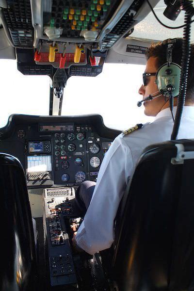 Interior del helicóptero