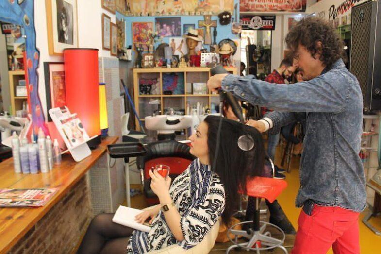 Peinado en La Perrockia