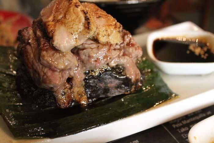 Ishiyaki (filete de buey con mi cuit y salsa unagi)