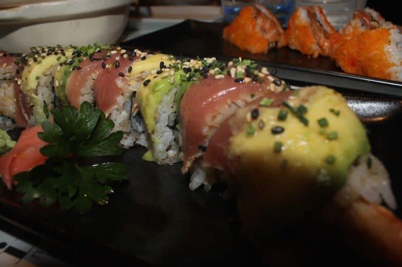 Tataki de langostino en tempura