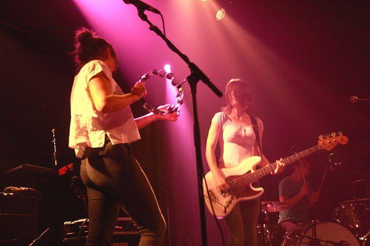 La banda Belako en uno de sus conciertos