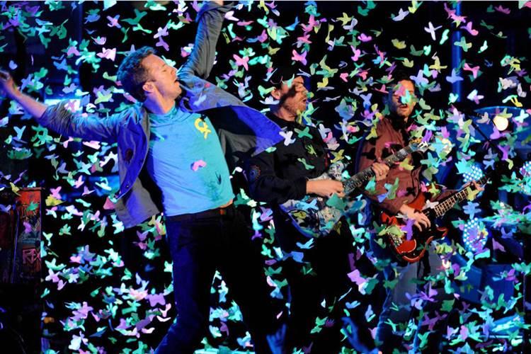 Luz, colorido y mucha fuerza se dan cita en los directos de Coldplay