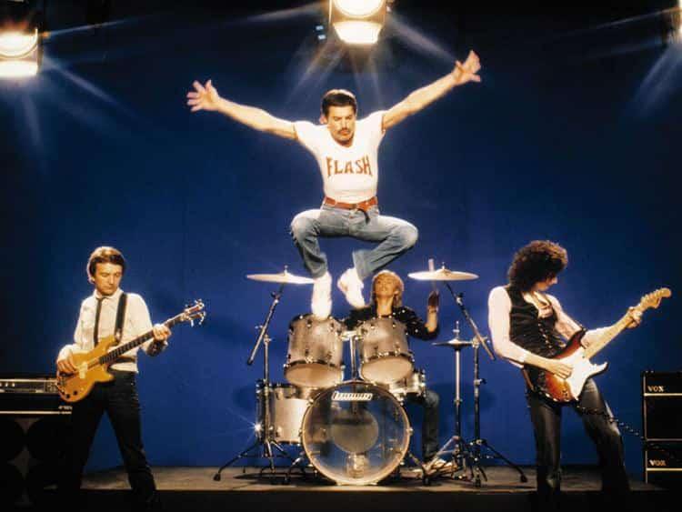 Formación original de Queen con freddie Mercury al frente