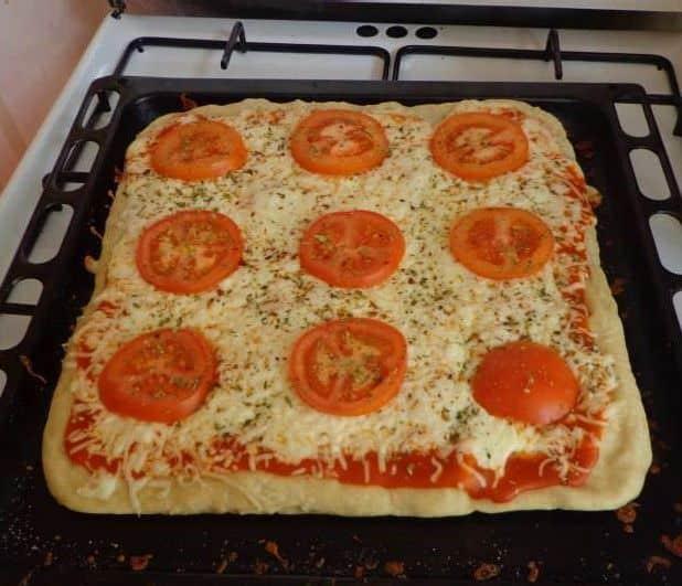 Pizza casera y muy recomendable