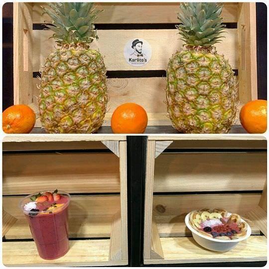 Superfrutas en zumos, batidos y bowl de frutas