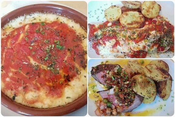 Provolone / Milanesa napolitana / Vacío con papas