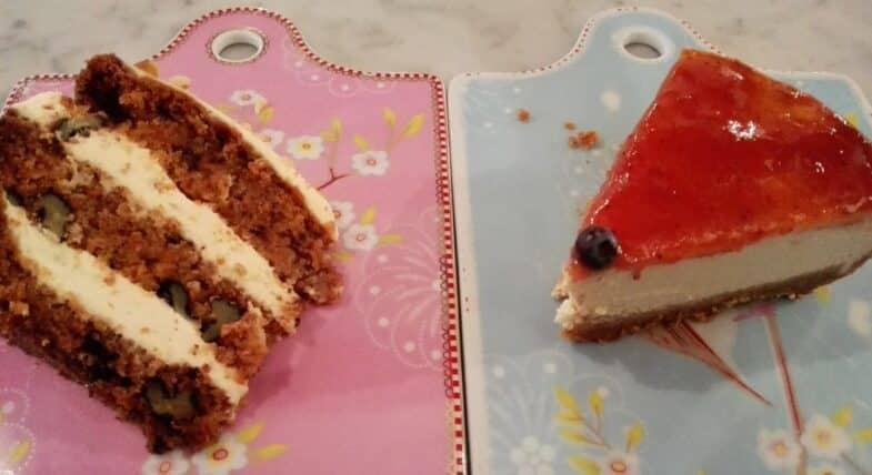 Tarta de zanahoria y cheese cake