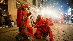 Los correfocs de la Festes de Santa Eulàlia