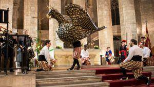El baile del Àliga en las Festes de Santa Eulàlia