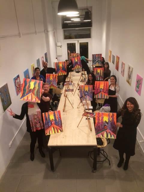 Final de la sesión en Arte Bar