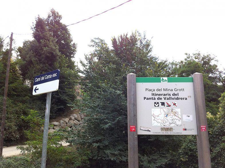 Indicaciones para llegar al Pantà de Vallvidrera