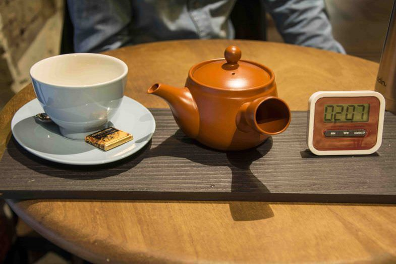 El té también tiene mucha importancia en el local