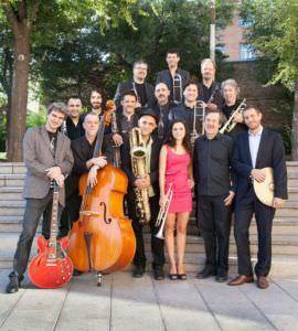 Andrea Motis & Joan Chamorro junto a la Big Band con la que actuarán en el Festival.