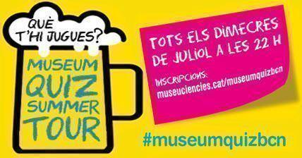Cartel anunciador de la actividad que se desarrollará en diversos museos de Barcelona