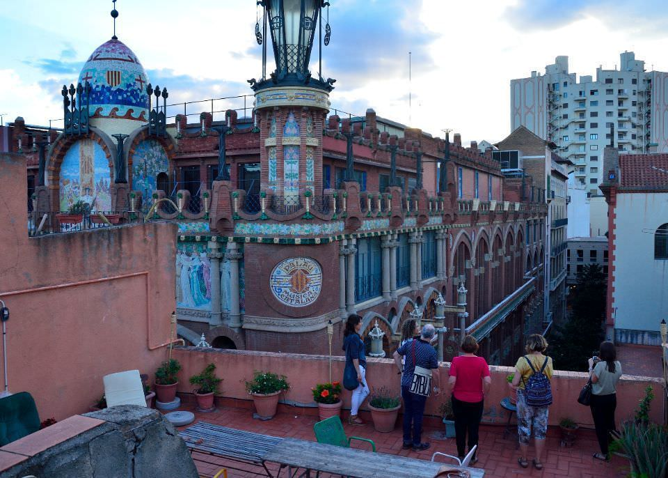 Desde una de las terrazas prácticamente podíamos tocar el Palau de la Música
