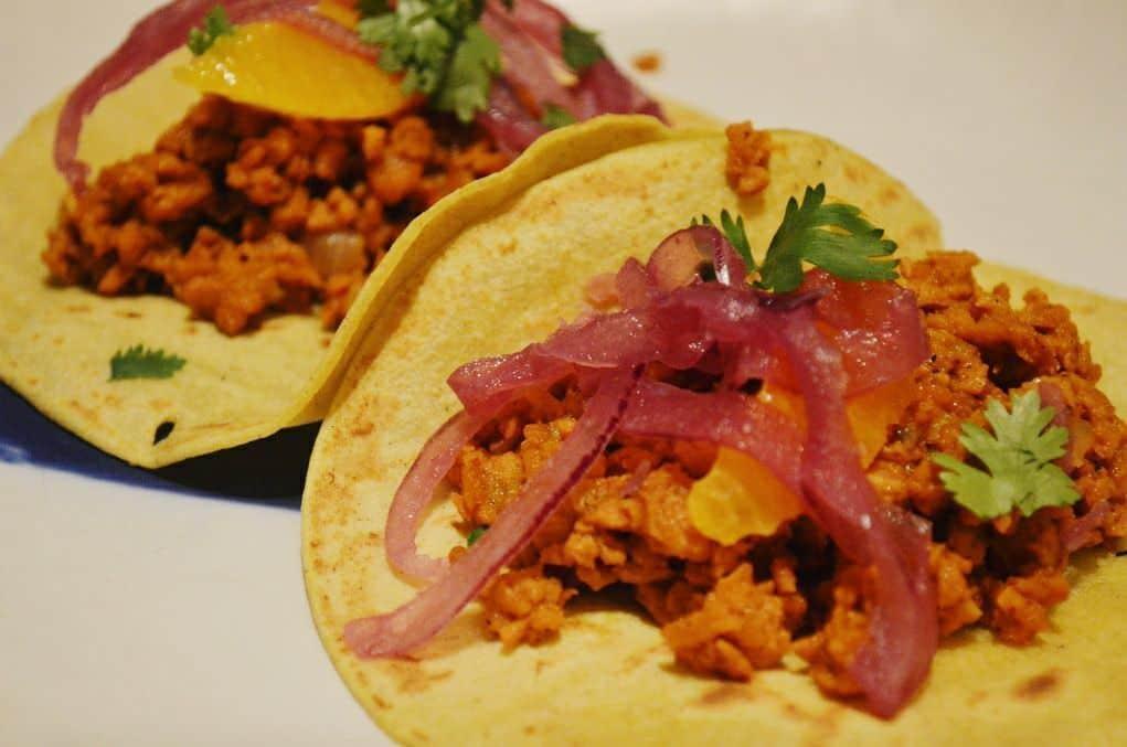 Tacos de Soja Pibil