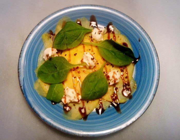 Carpaccio de mango