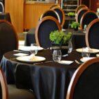 El interior de la sala del restaurante.