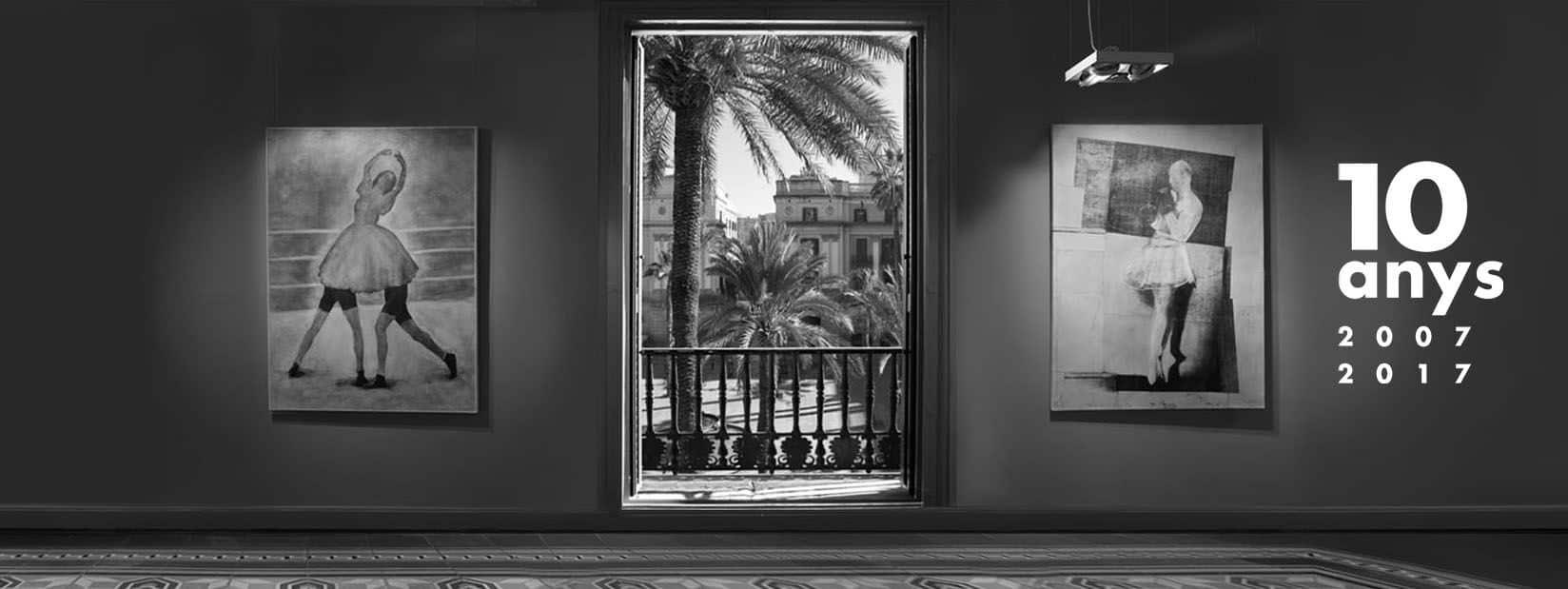 Vista a la Plaça Reial desde el piso de la Fundación Setba.