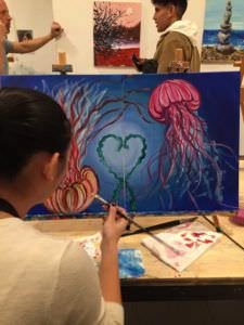 Una pintura que se complementa con la de tu pareja y se vuelve una misma