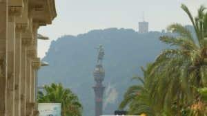 Vistas a Montjuic desde Pla de Palau, donde se celebrará el Born Street Food.