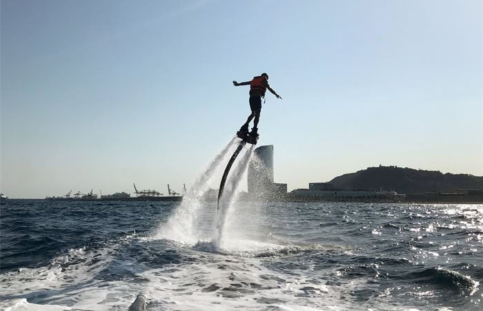 Flyboard en el Port Olímpic