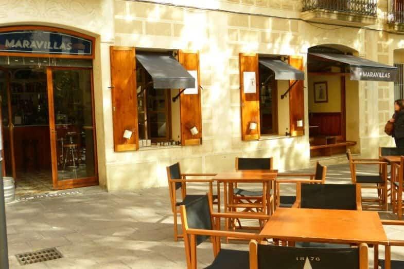 La deliciosa terraza del local, en plena plaza.