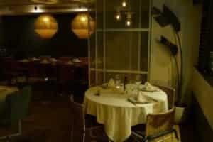 Una de las zonas del salón del restaurante.