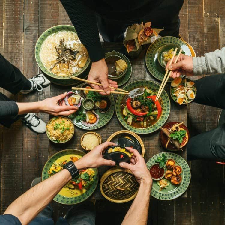 Los platos de Boa-Bao son ideales para compartir