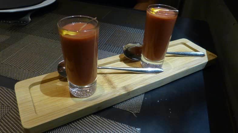 Gazpacho de cerezas.
