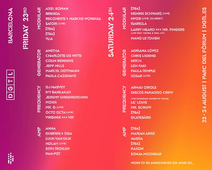 Festival DGTL Barcelona Line-up 2019