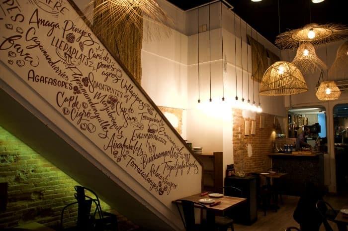 Imagen de un rincón del restaurante