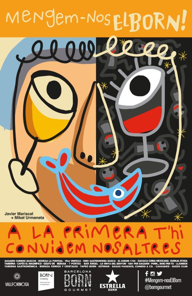 El cartel de la campaña, ideado por los artistas Javier Mariscal y Mikel Urmeneta.