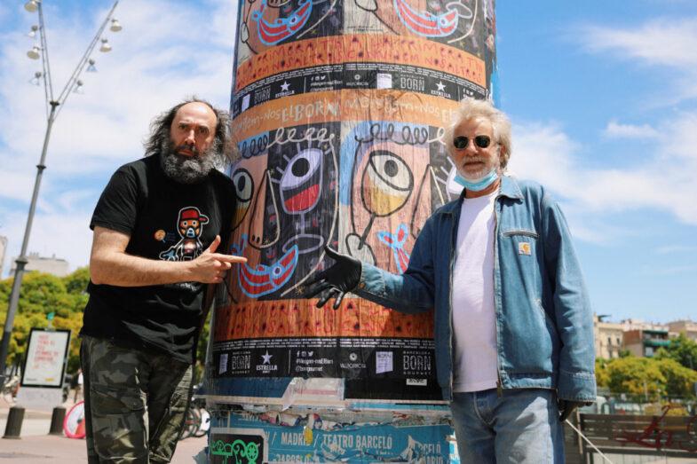 Los artistas Javier Mariscal y Mikel Urmeneta, autores del cartel.