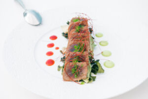 Tartar de atún en hotel MiM Sitges