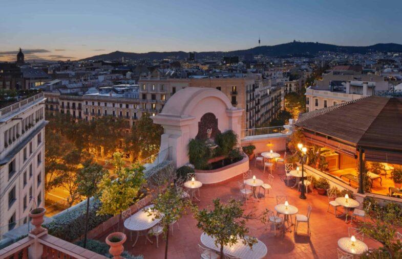 Rooftop garden El Palace Barcelona