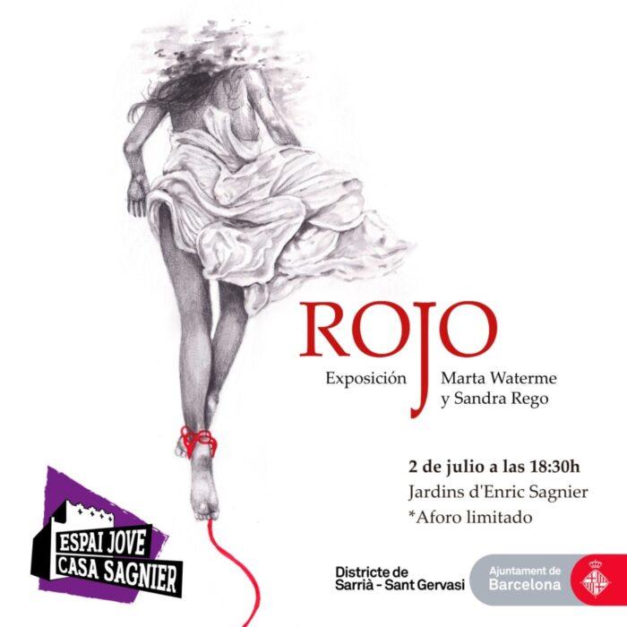 Exposición Rojo- Cartel Marta Waterme